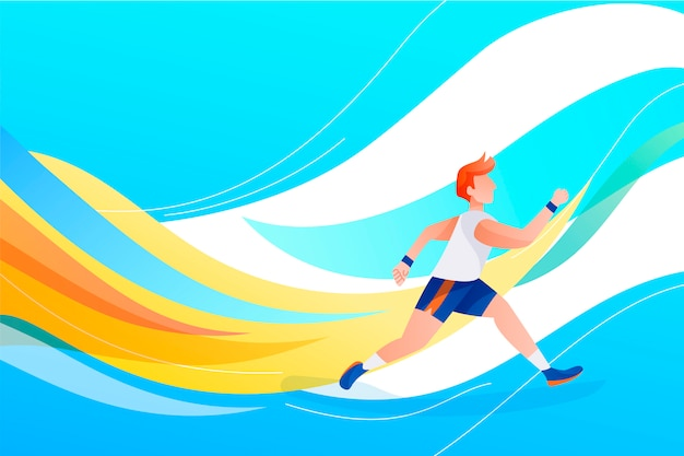 Gradient olympic games 2021 illustration