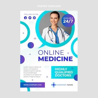 Gradient online medicine poster template
