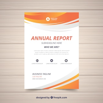 Gradient orange annual report cover template