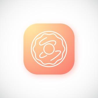 Градиентная оранжевая кнопка с тонким пончиком