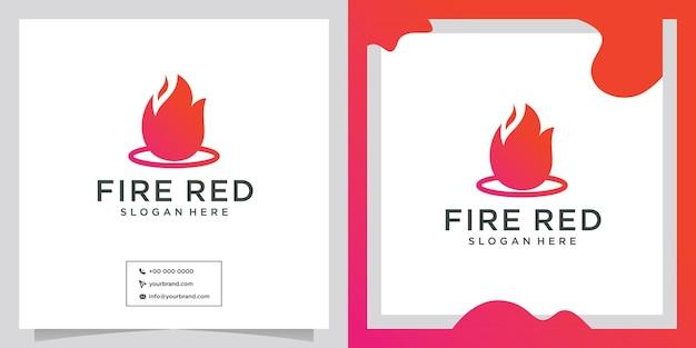 Дизайн логотипа шаблона логотипа градиентный оранжевый огонь
