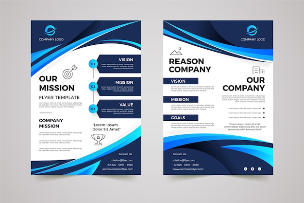 Gradient our mission flyers template