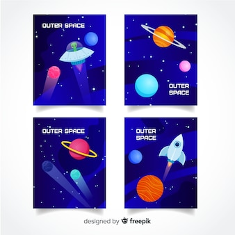 Gradient outer space cover collection