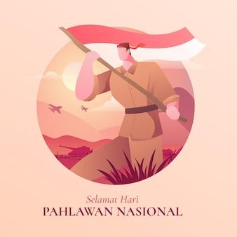 Градиентная иллюстрация дня героев пахлавана