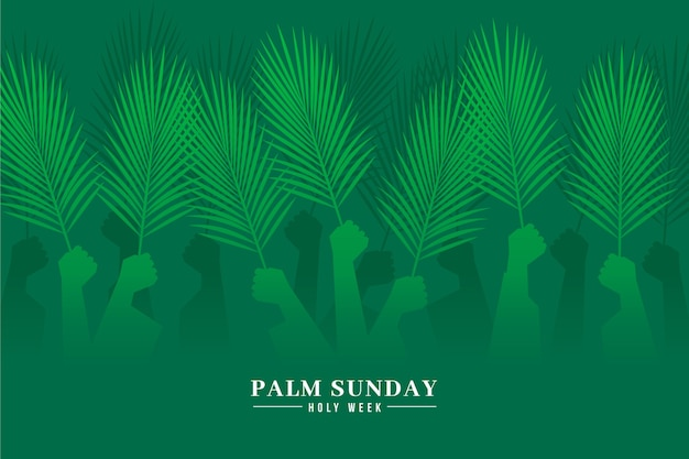 Gradient palm sunday event