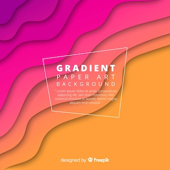 Gradient paper art backgound