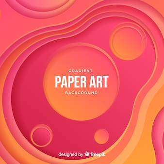 Gradient paper art background