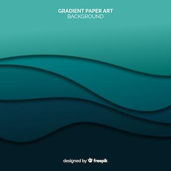 Gradient paper art background