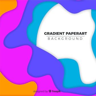Gradient paperart background