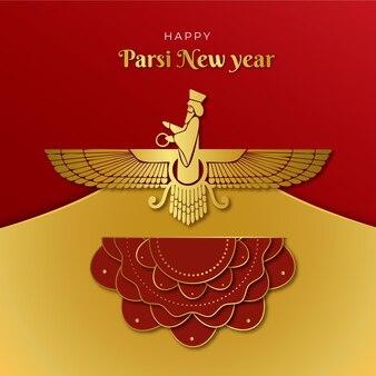 Gradient parsi new year illustration