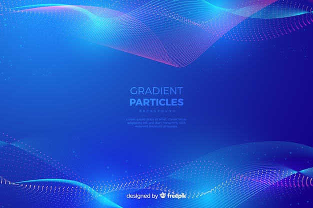 Gradient particles background