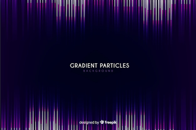 Gradient particles dark background