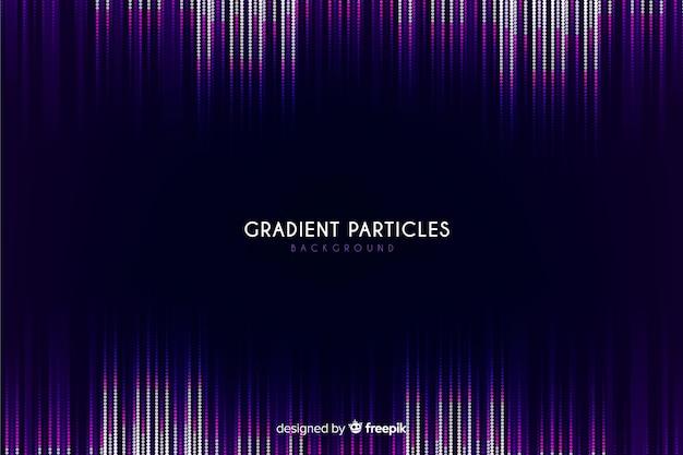 Gradient particles dark background
