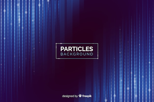Gradient particles falling background