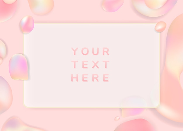 Gradient pastel frame background template