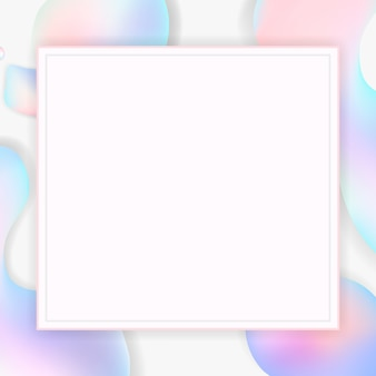 Gradient pastel frame background
