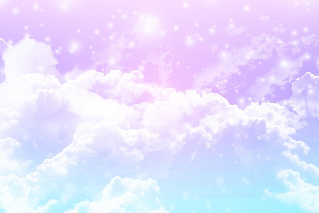 グラデーションパステル空の背景