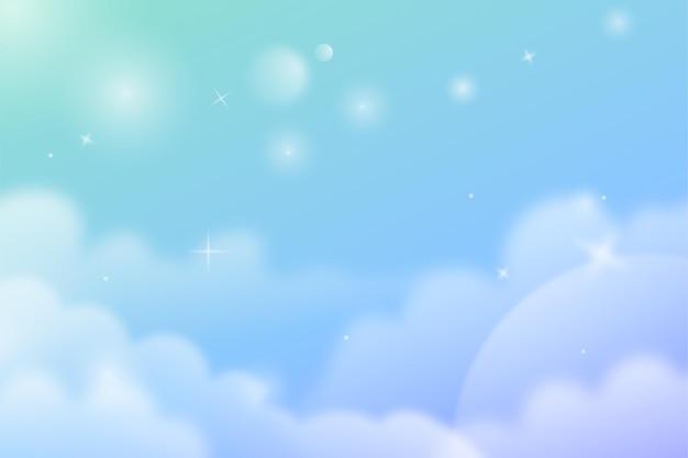 Градиент пастельный фон неба Бесплатные векторы