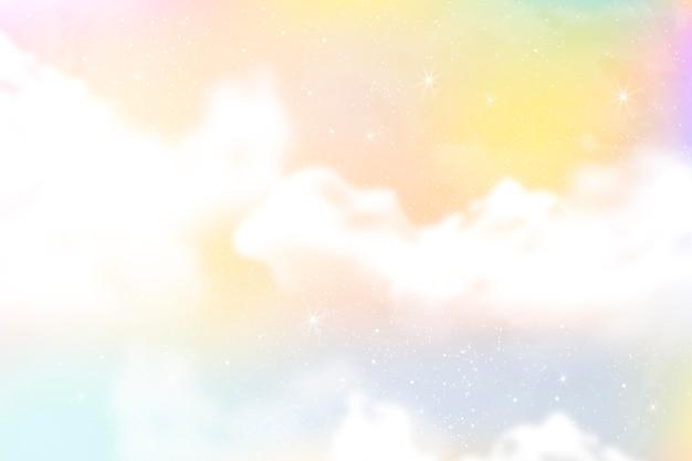 グラデーションパステル空の背景 無料ベクター