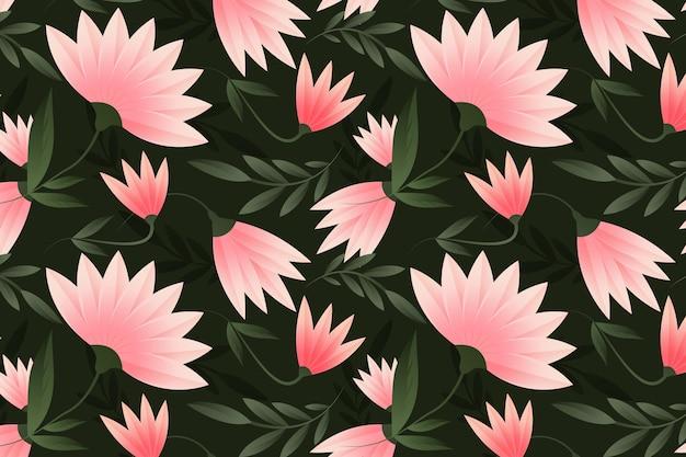 복숭아 톤의 그라데이션 패턴 디자인
