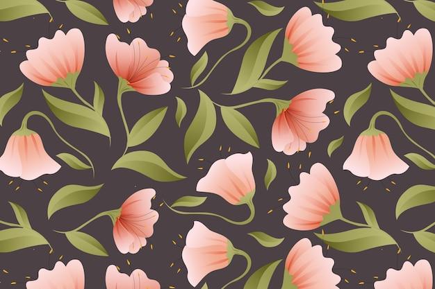 Дизайн градиентного узора в персиковых тонах