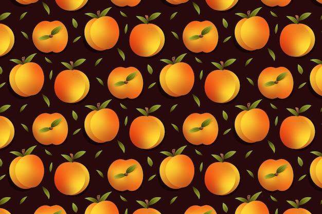 Gradient peach pattern design