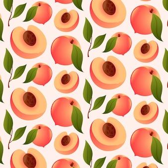 Градиентный персиковый узор