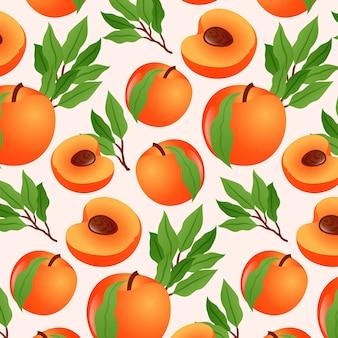 그라데이션 복숭아 패턴 디자인