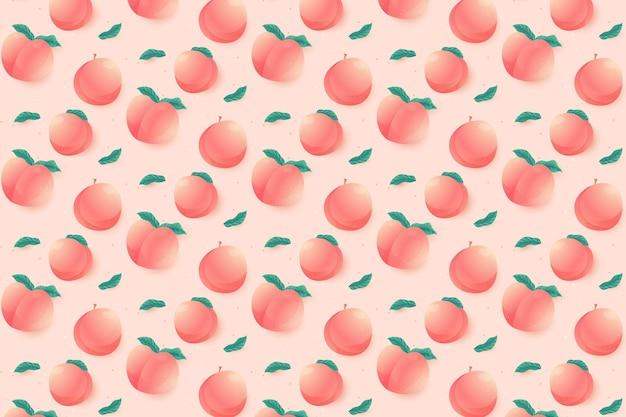 桃のグラデーション模様