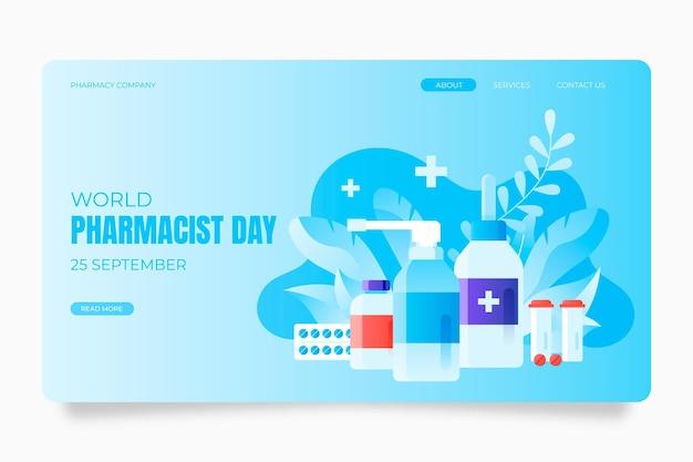 Шаблон целевой страницы градиентного дня фармацевта