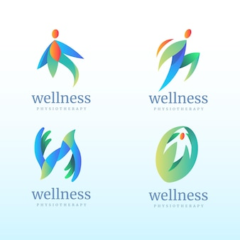 Gradient physiotherapy logo set