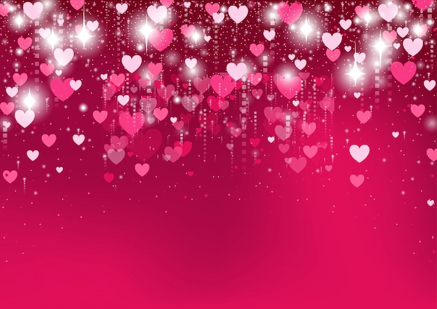 Gradient pink heart background