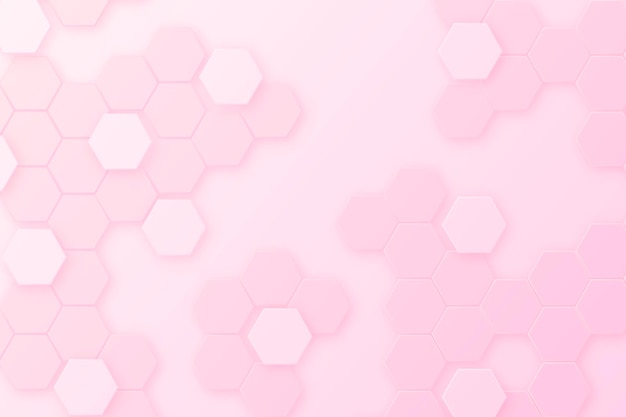 Gradient pink hexagonal background