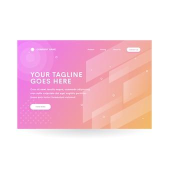 Gradient pink orange diamond website header