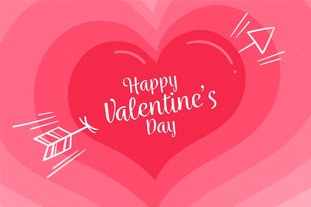 Gradient pink shades heart for valentine's day background