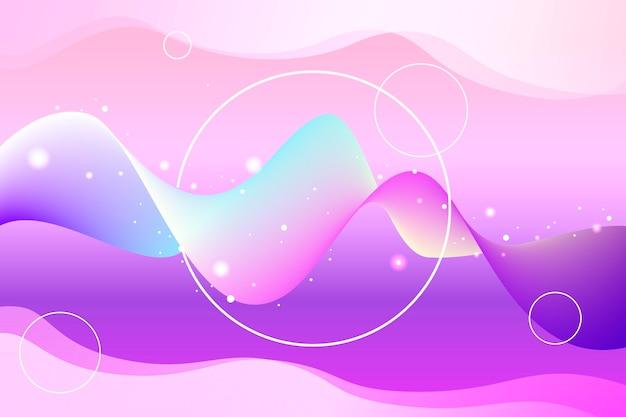 그라데이션 핑크 음영 물결 모양 배경