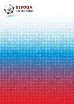 Gradient pixel digital red blue vertical background. russia