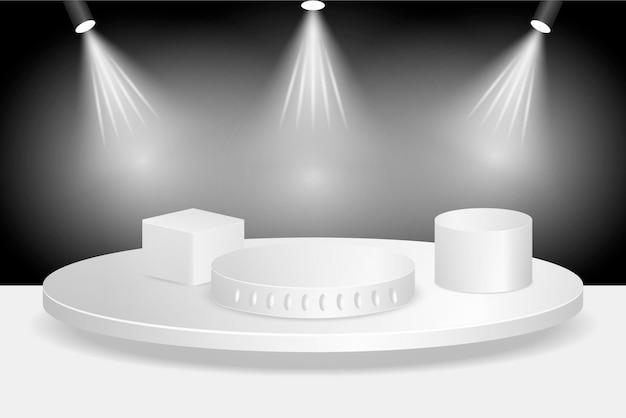 Градиентный дизайн подиума в 3d-рендеринге