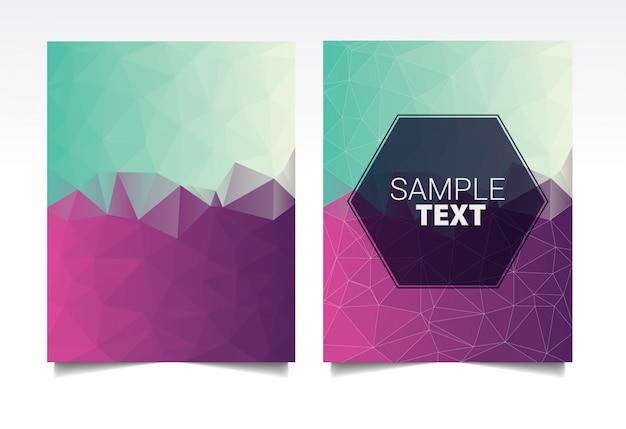 Gradient polygonal covers design. minimal geometric pattern