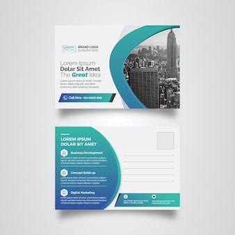 Gradient Post Card Template