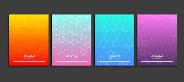 Gradient poster background set, modern banner concept vector.