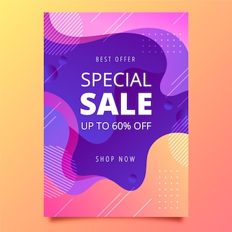 Gradient poster template