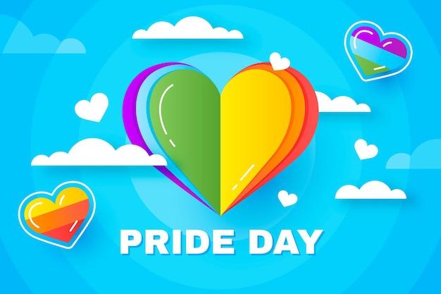 Gradient pride day illustration