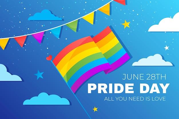 Illustrazione di giorno di orgoglio gradiente
