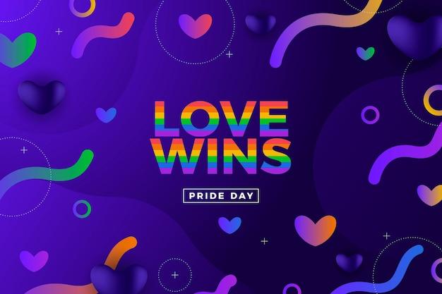 Градиентная иллюстрация дня гордости