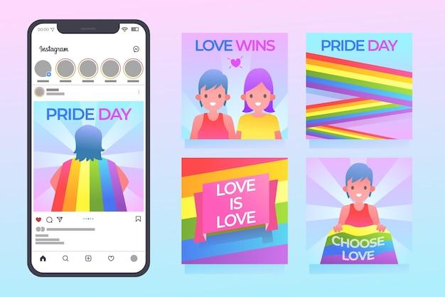 Коллекция постов в instagram на день гордости