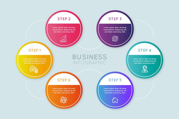 Gradient process infographic