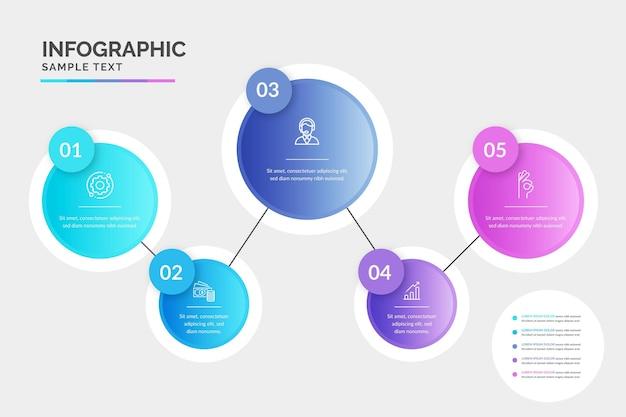 Градиентный процесс инфографики