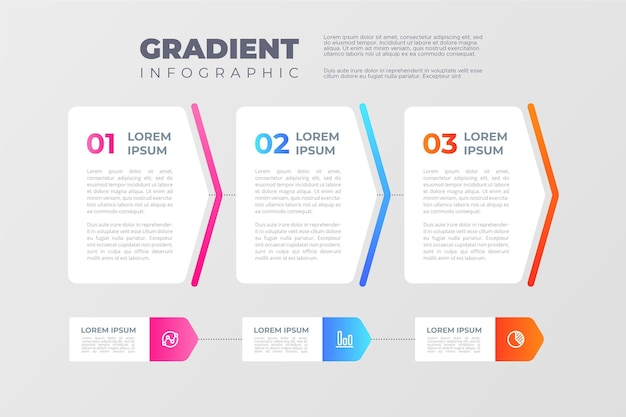 Gradient process infographic