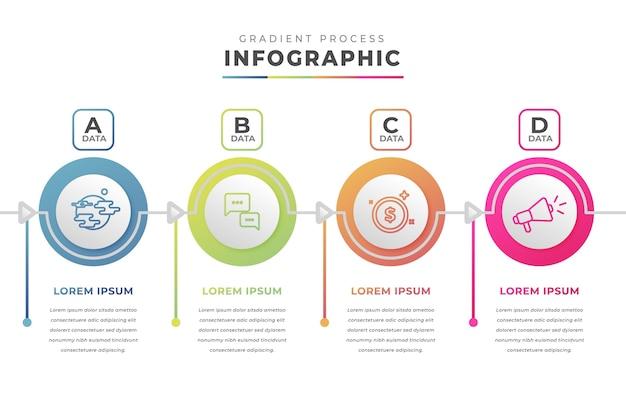 グラジエントプロセスのインフォグラフィック